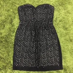 Urban Outfitters Pins & Needles Black Lace Eyelet Dress Size AUS 8